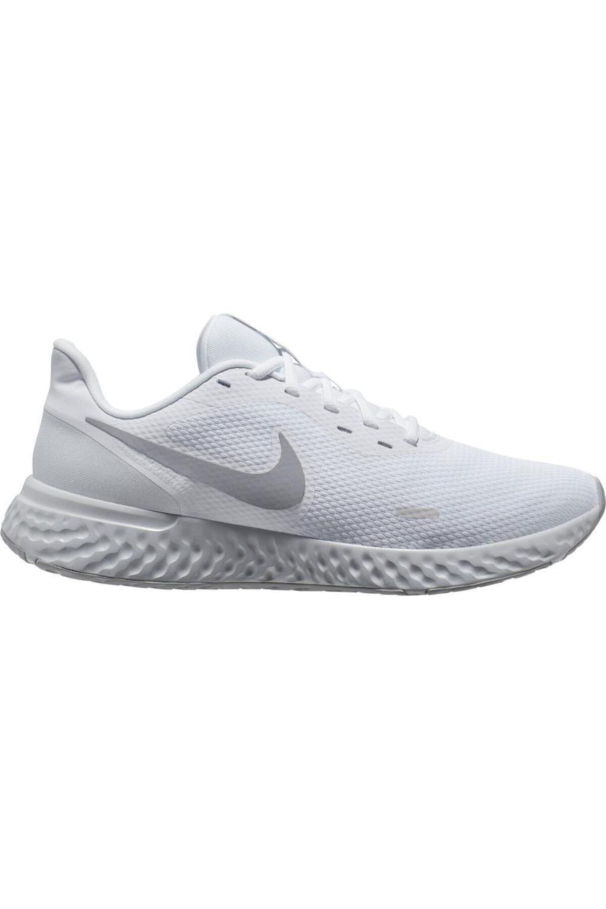 Nike Kadın Beyaz Revolution 5 Spor Ayakkabı Bq3207-100 1