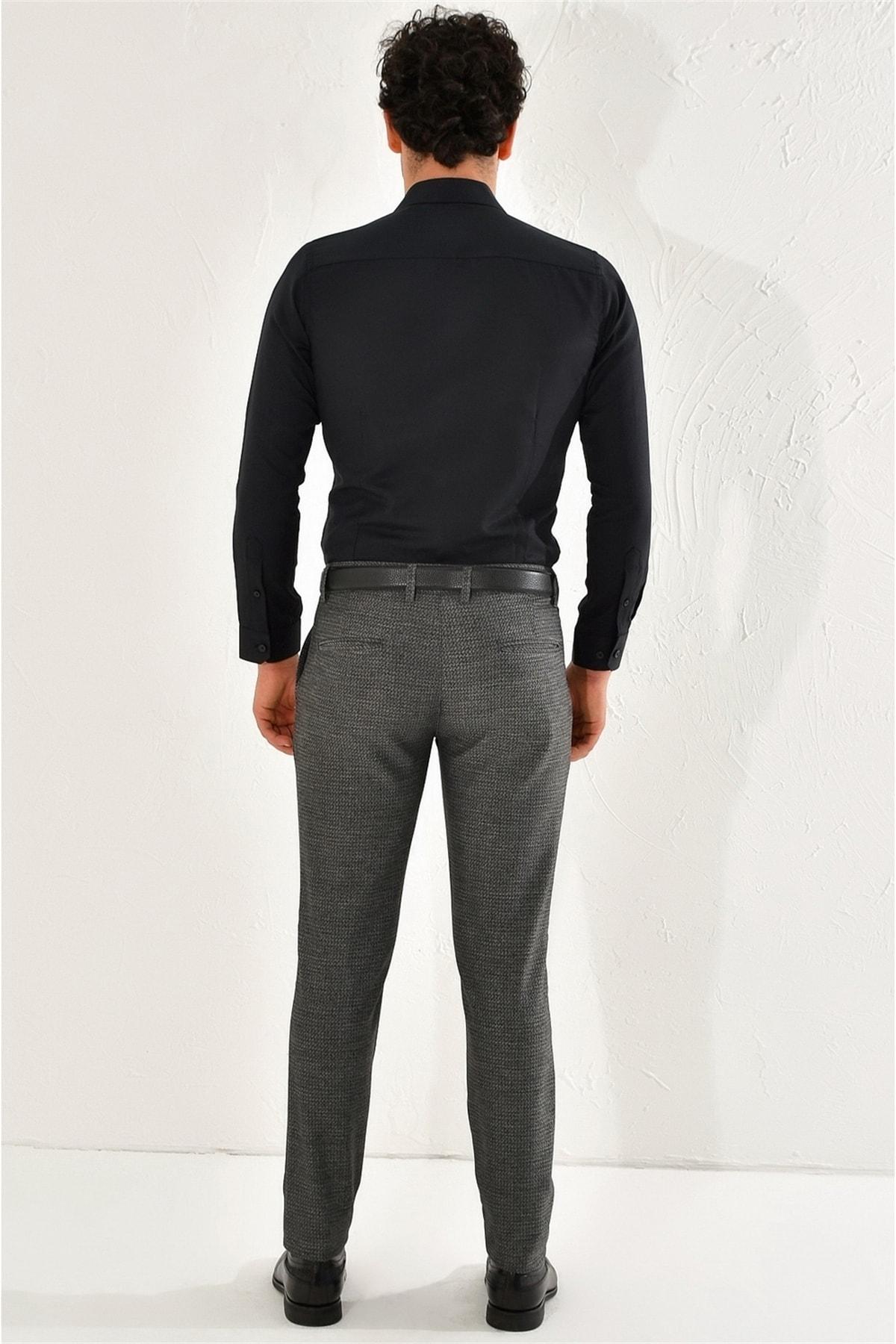 Efor P 1065 Slim Fit Siyah Spor Pantolon 2