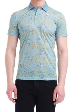 Efor Ts 733 Slim Fit Mavi Spor T-shirt