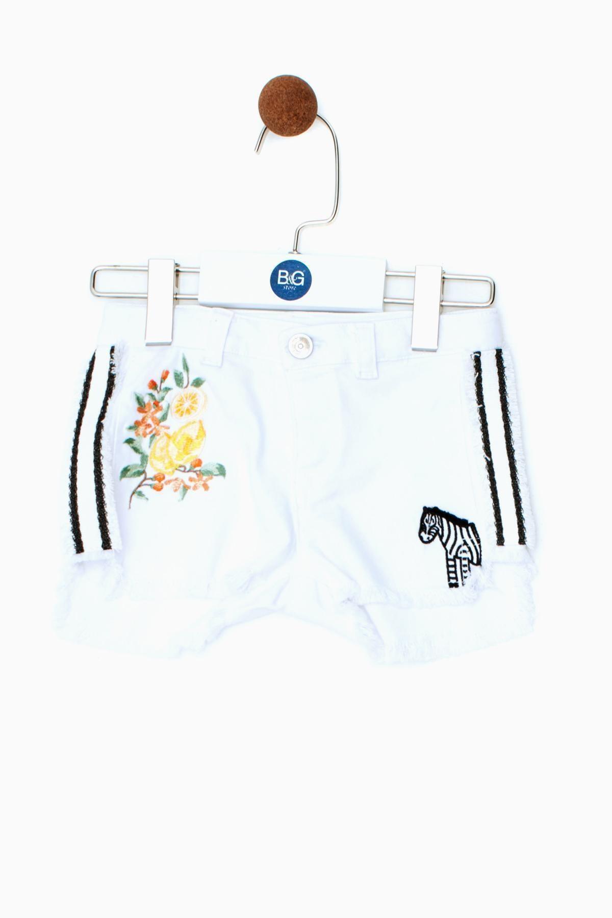 BG Baby Kız Bebek Jean Şort 19ss0bg2117 1
