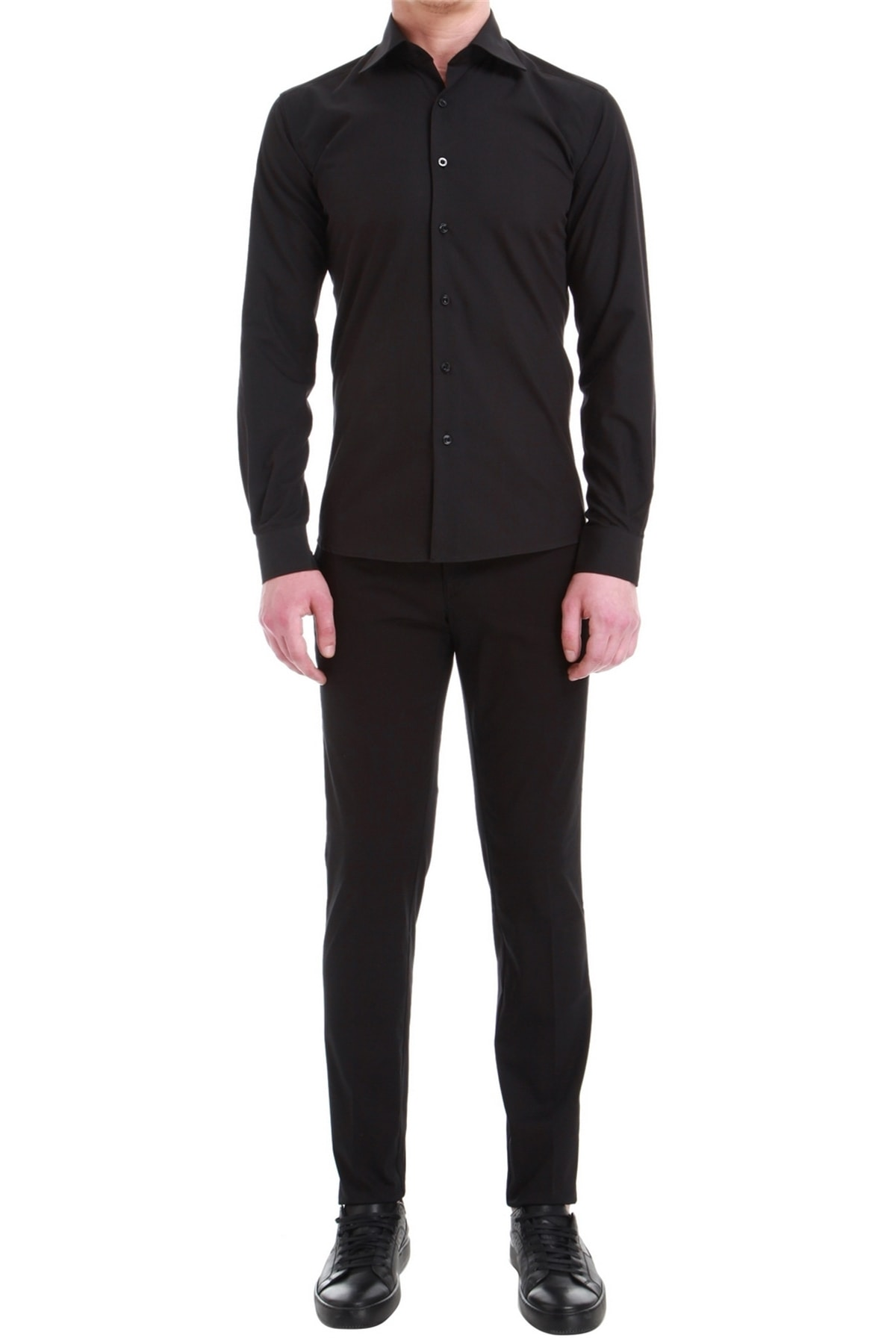 Efor P 1058 Slim Fit Siyah Spor Pantolon 1