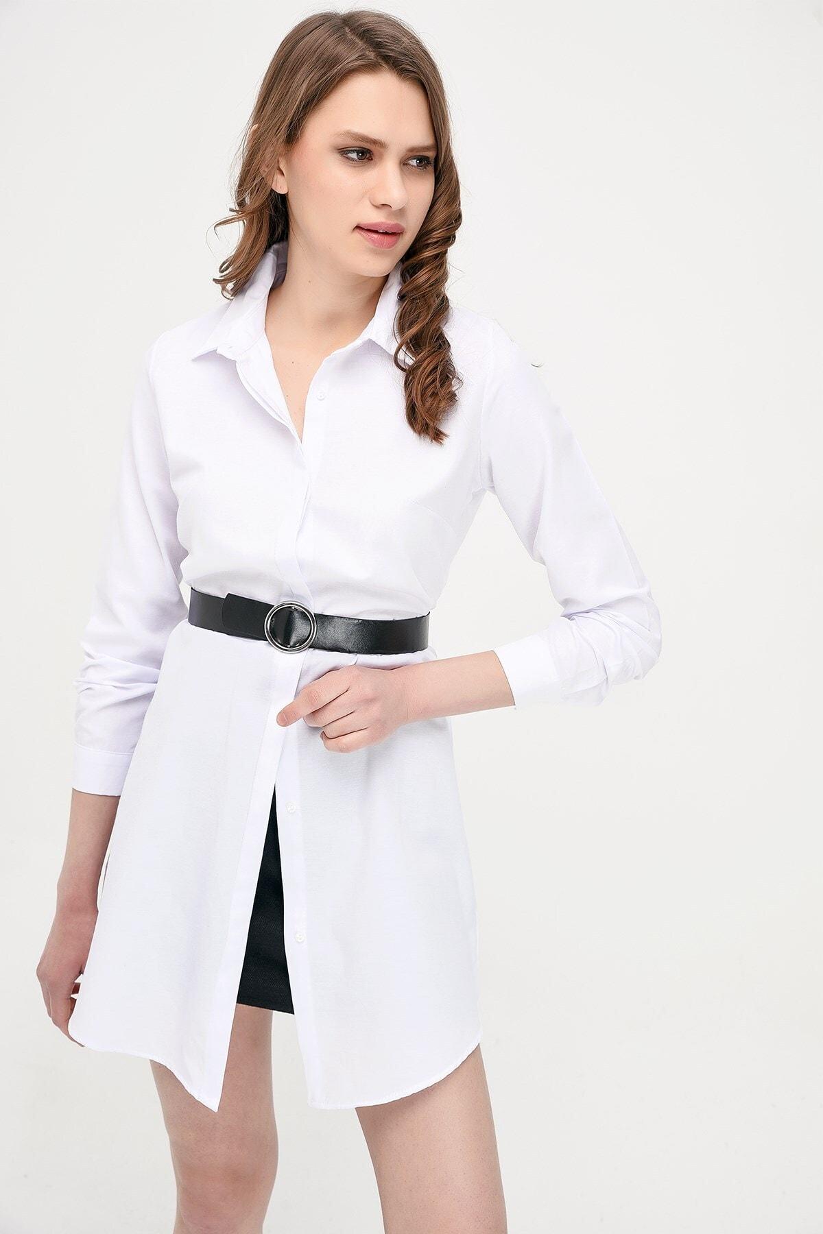 Cotton Mood 9072734 Şamre Uzun Kollu Gömlek Beyaz 1