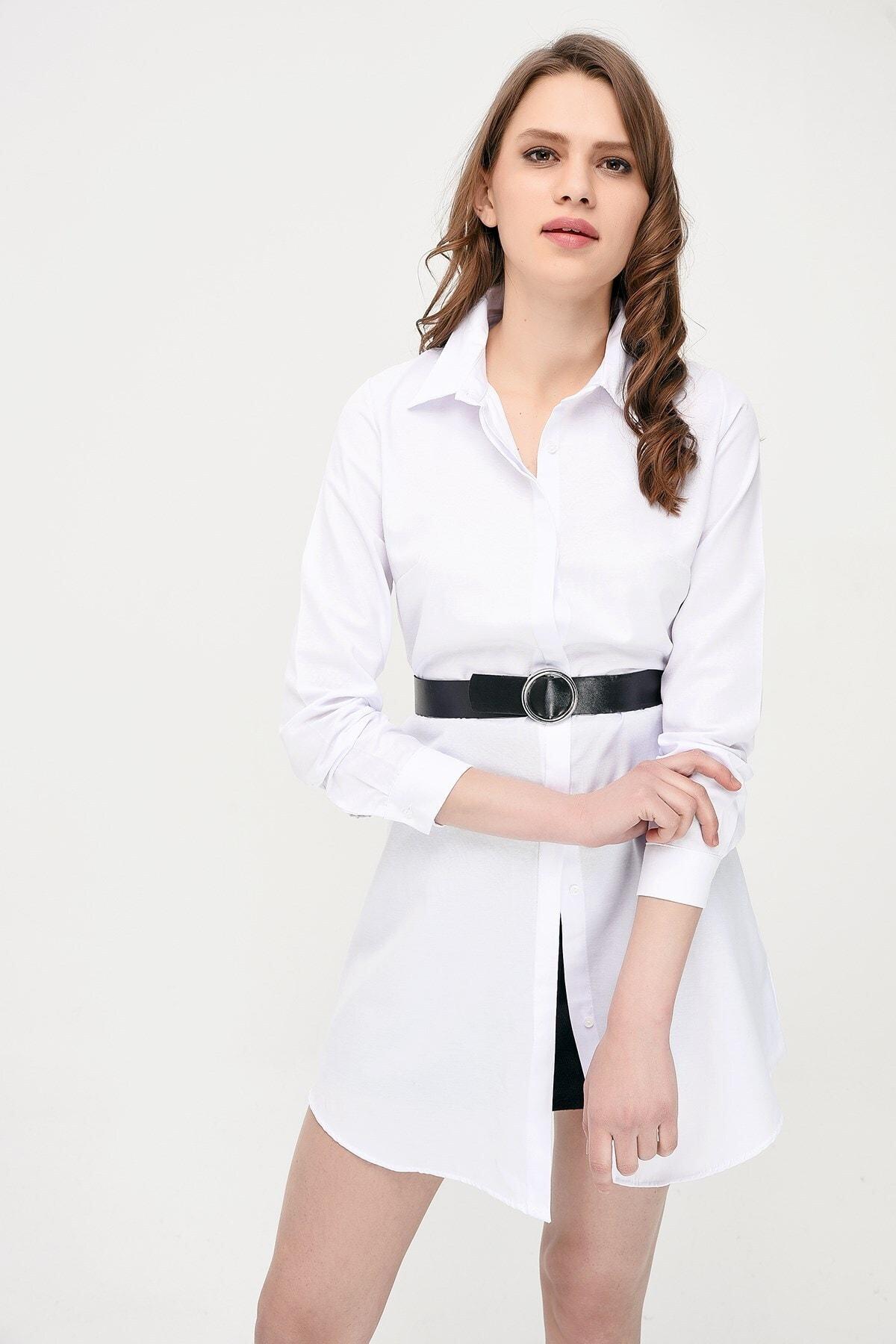 Cotton Mood 9072734 Şamre Uzun Kollu Gömlek Beyaz 2