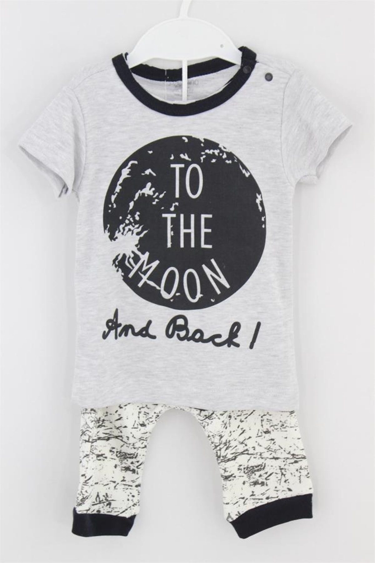Panolino On The Moon 2 Li Alt Üst Takım Erkek Bebek Giyim 1