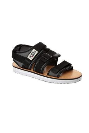 Tommy Hilfiger Siyah Erkek Sandalet Em0em00043 990 Tommy Hılfıger Urban Tj Strap Sandal Black