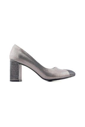 PUNTO 595375 Kadın Topuklu Ayakkabı-platin Sultan