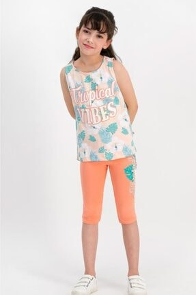 ROLY POLY Tropical Vibes Yavruağzı Kız Çocuk Tayt Takım Rp1786-c