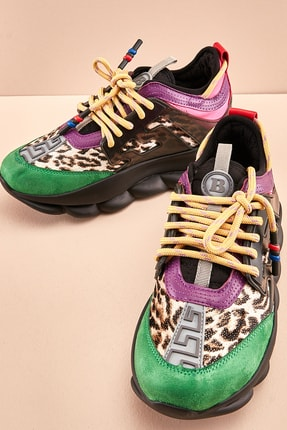 Bambi Yeş/leo Cilt Kadın Sneaker