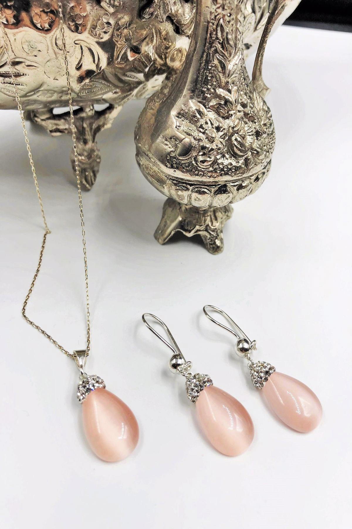 Dr. Stone Dr Stone Harem Koleksiyonu Kedigözü Taşı El Yapımı 925 Ayar Gümüş Set Gdr19 1