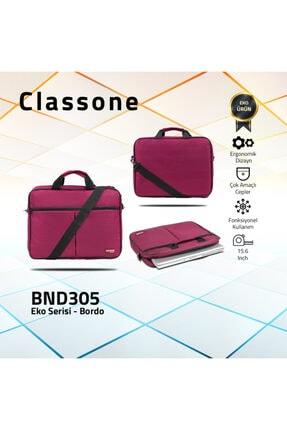 Classone Bnd305 El Çantası 15,6 Inç Uyumlu Laptop Notebook El Çantası-bordo