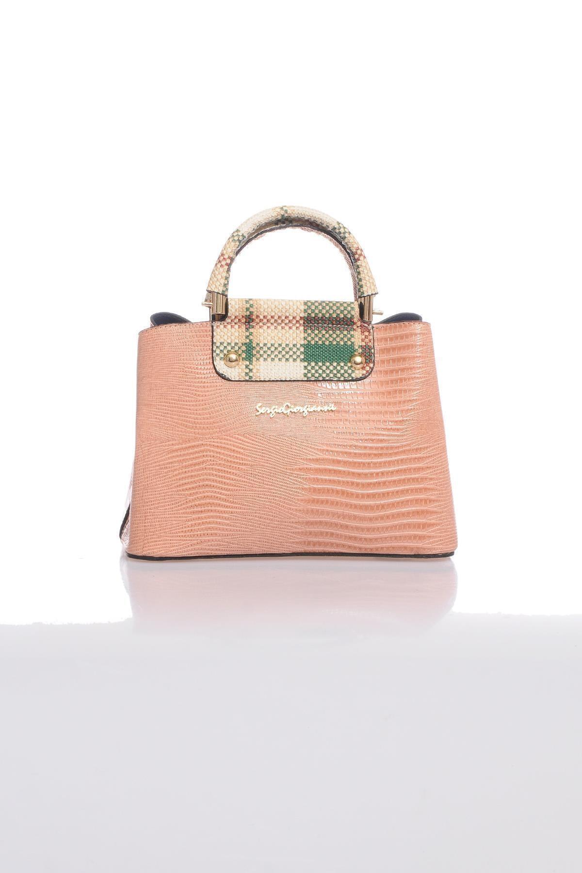 Sergio Giorgianni Luxury Sg0716 Pudra Kadın Omuz Çantası 1