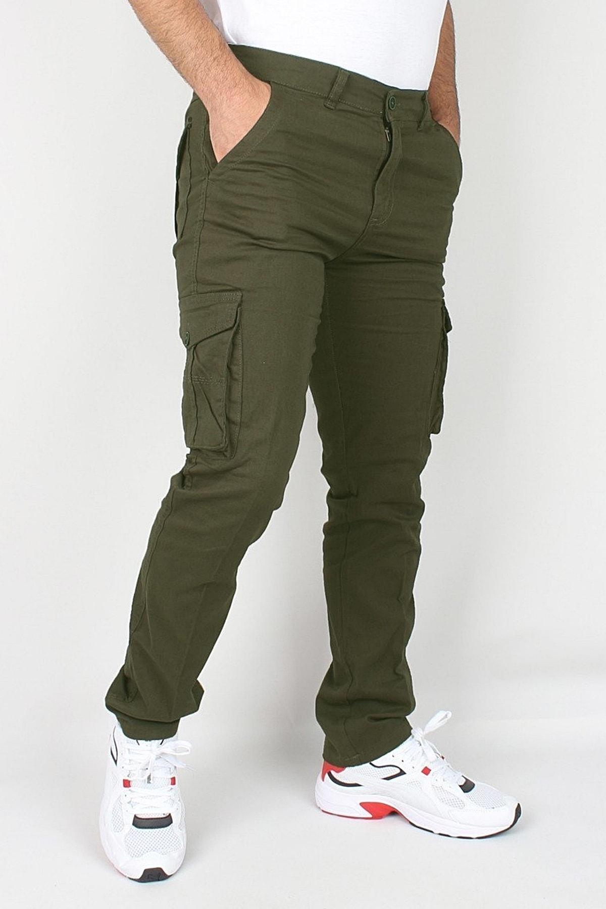 butiksinope Erkek Askeri Kargo Pantolon Haki 1