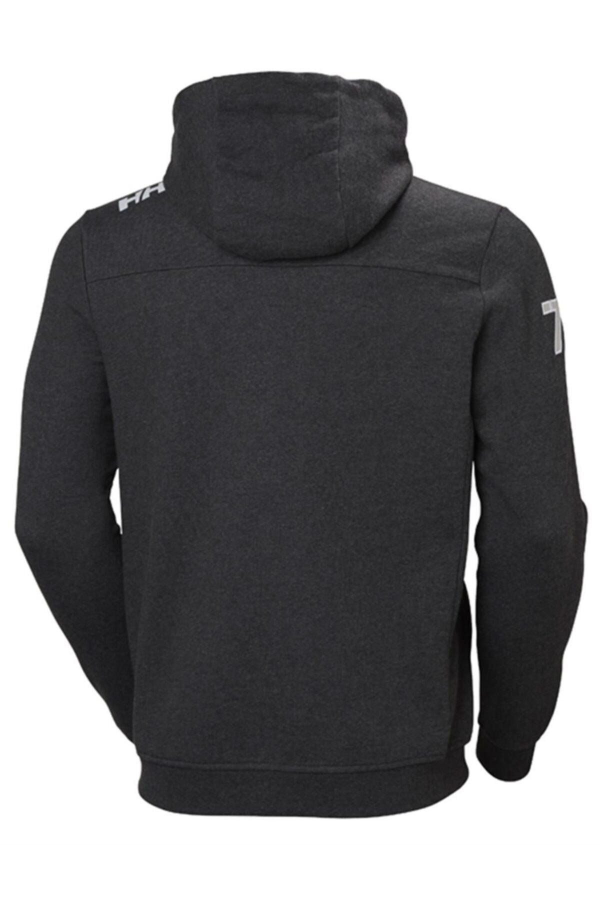 Helly Hansen Club Fz Hoodie Gri Erkek Fermuarlı Sweat Shirt 2