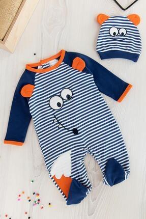 Babymod Erkek Bebek Lacivert  Figürlü Bebek Tulum