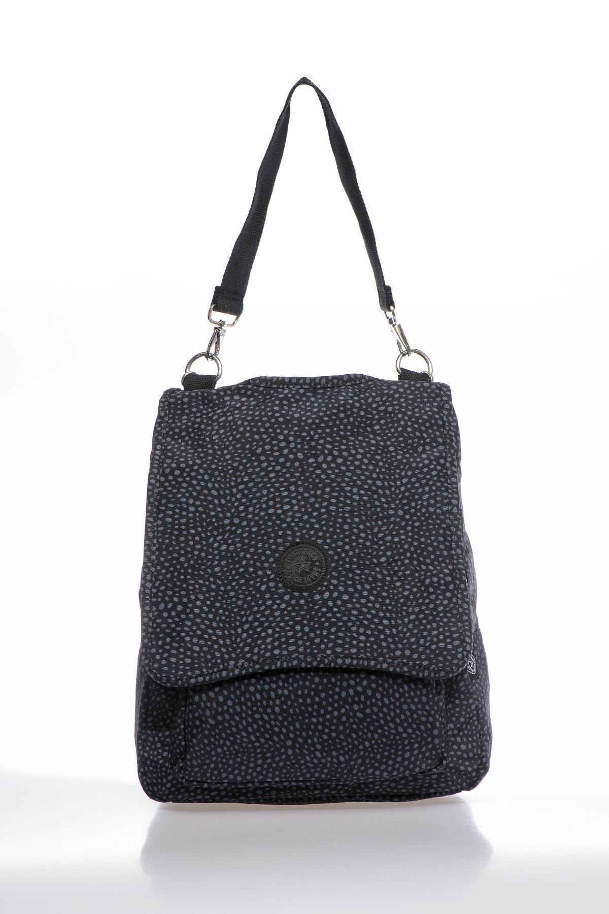 SMART BAGS Smbky1119-0091 Puanlı Siyah Kadın Sırt Çantası 1