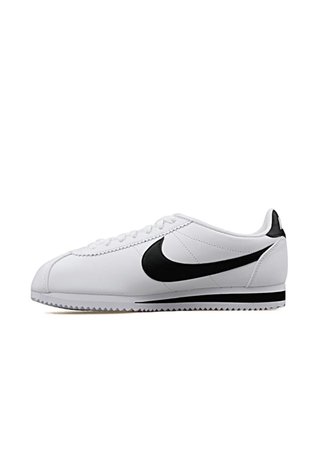 Nike Classic Cortez Leather Kadın Beyaz Spor Ayakkabı 807471-101 2