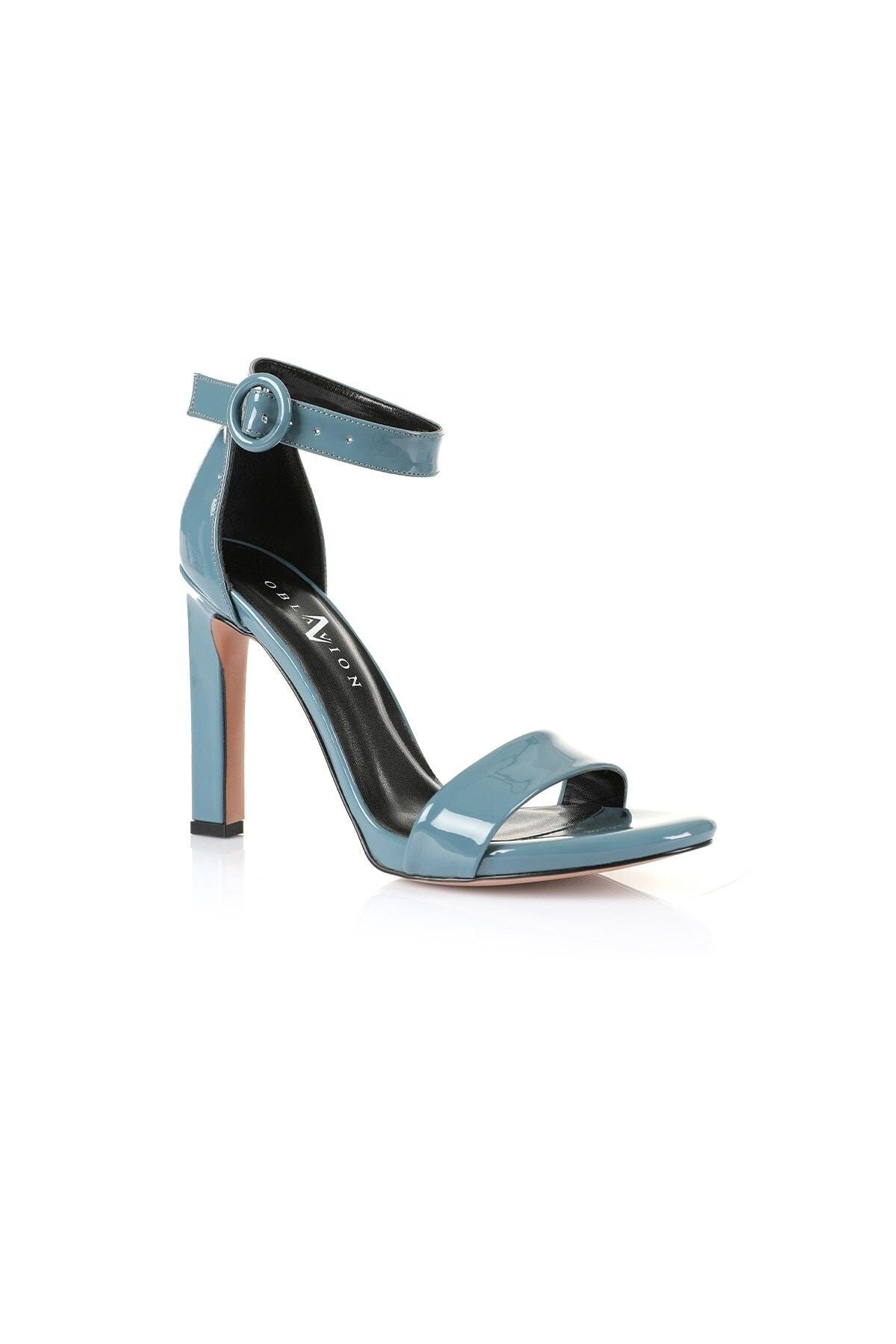 Oblavion Carmen Indigo Mavi Topuklu Ayakkabı 2