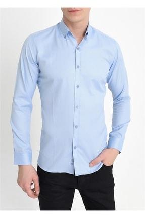 Efor Gk 560 Slim Fit Mavi Klasik Gömlek