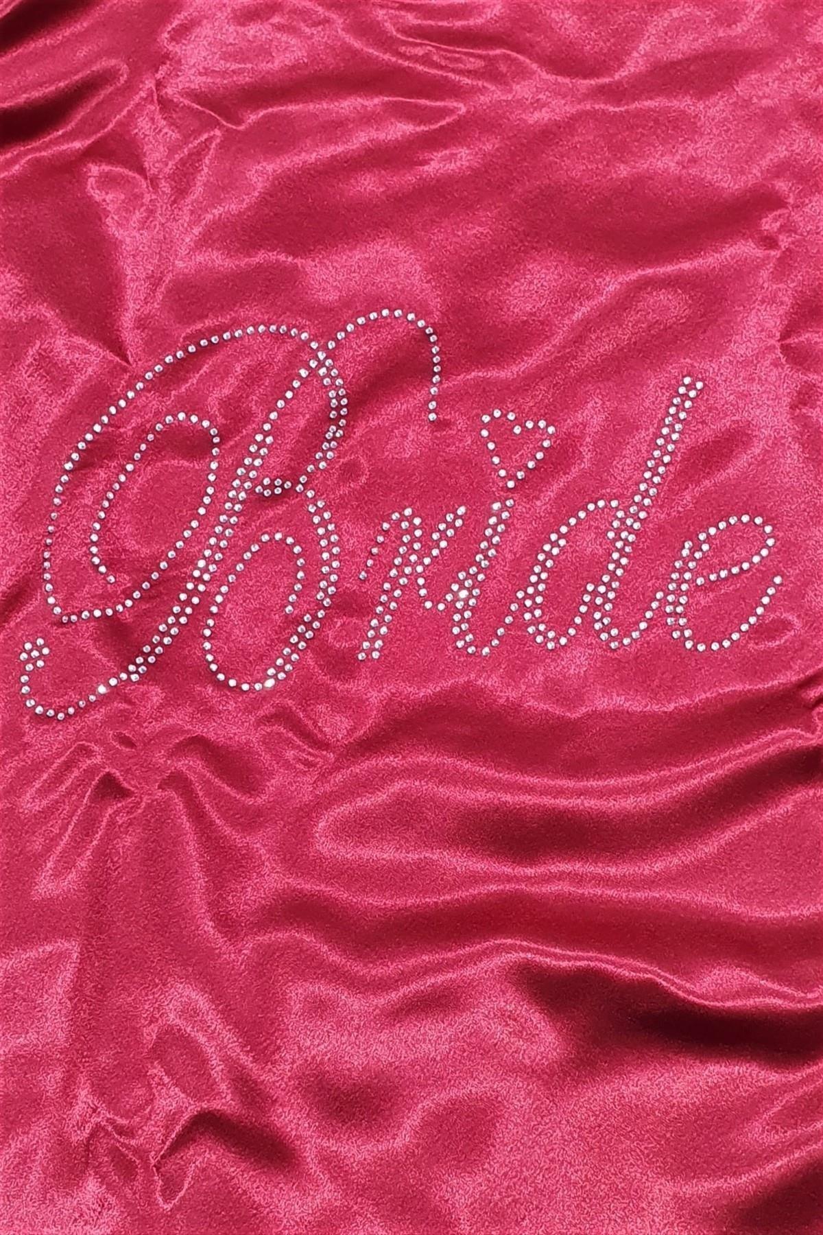 EXCLUSIVE 1070 Çeyizlik Saten Bride Sabahlık Gelin Sabahlık 2