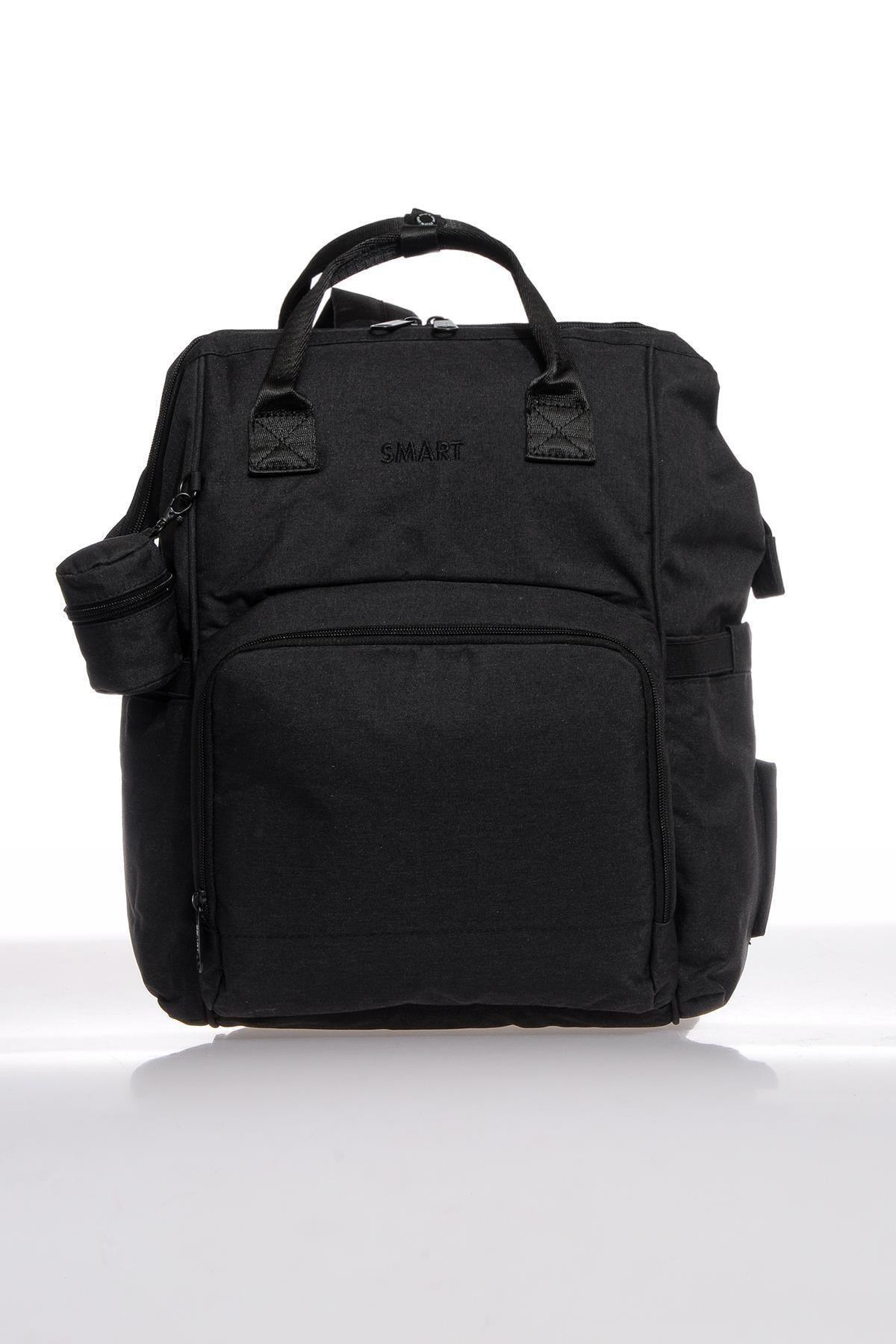 SMART BAGS Smb2007-0001 Siyah Kadın Bebek Bakım Sırt Çantası 1