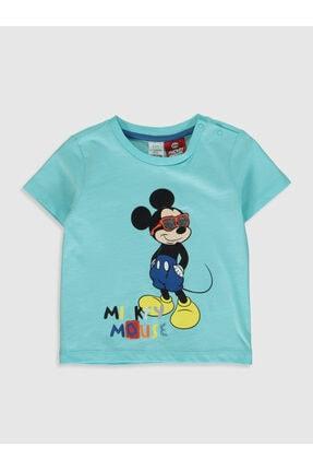 LC Waikiki Mickey Mouse Erkek Bebek Turkuaz G1A T-Shirt