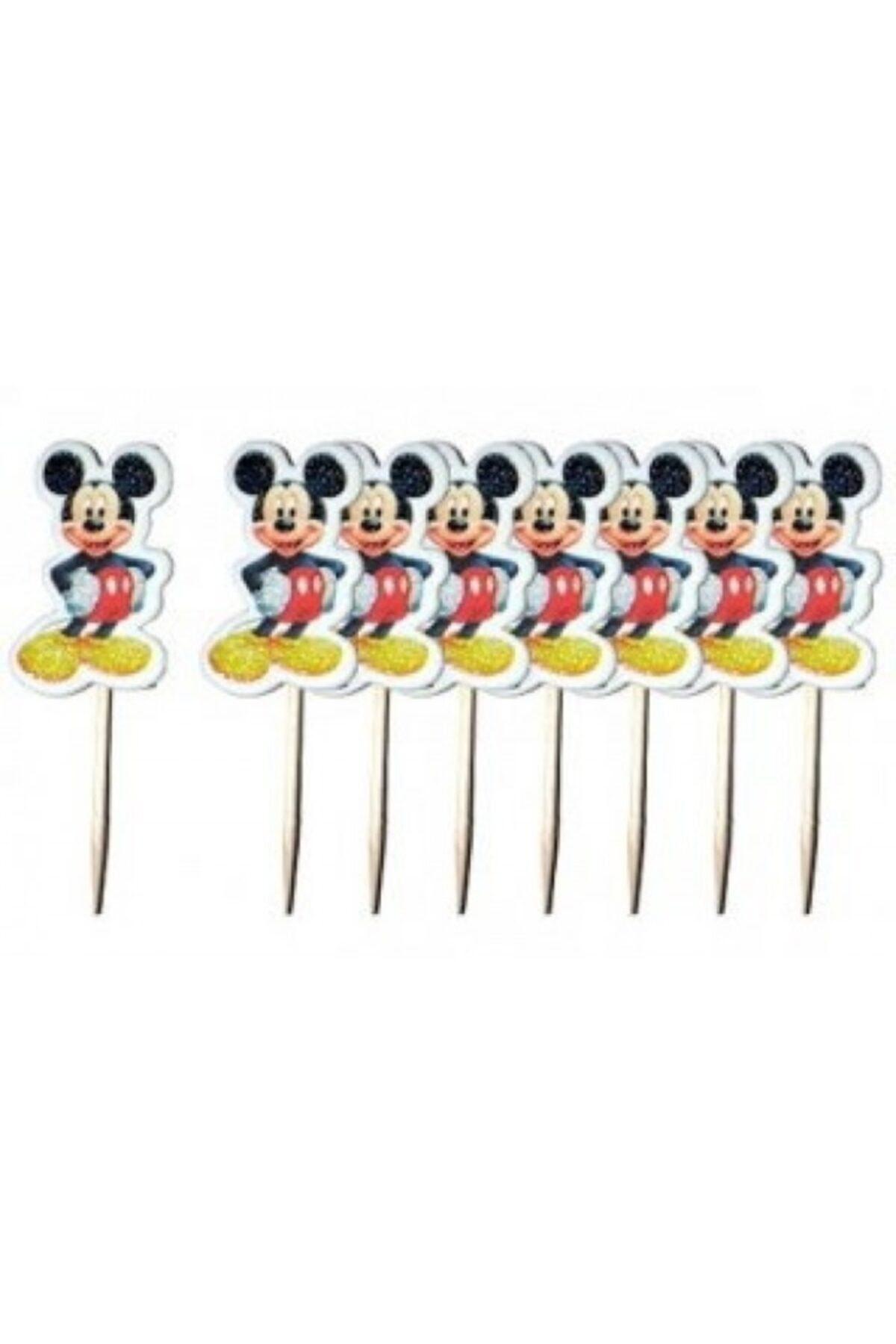 Mickey Mouse 20 Adet Doğum Günü Parti Kürdan Sunum Kürdanı 1