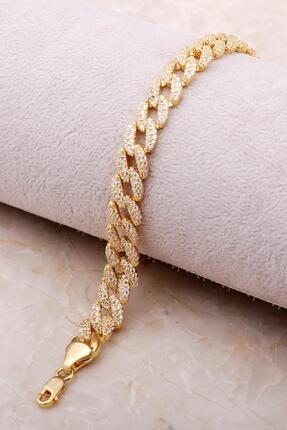 Sümer Telkari Altın Yaldızlı Taşlı Gurmet Gümüş Bileklik 3477