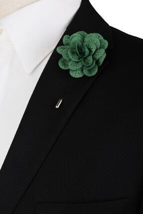Kravatkolik Yeşil Damat Yaka Çiçeği Yc417