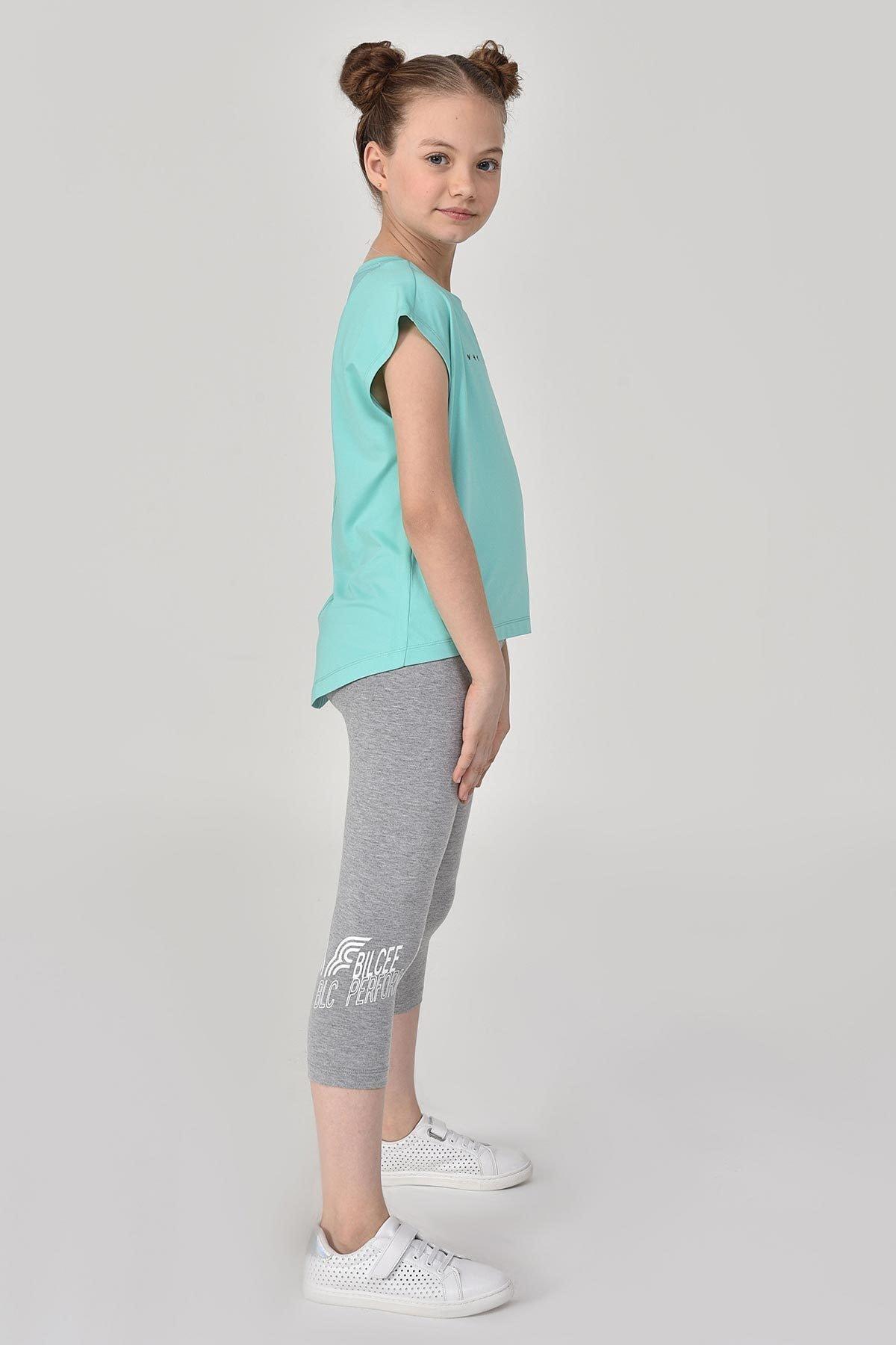 bilcee Turkuaz Kız Çocuk T-Shirt GS-8158 2
