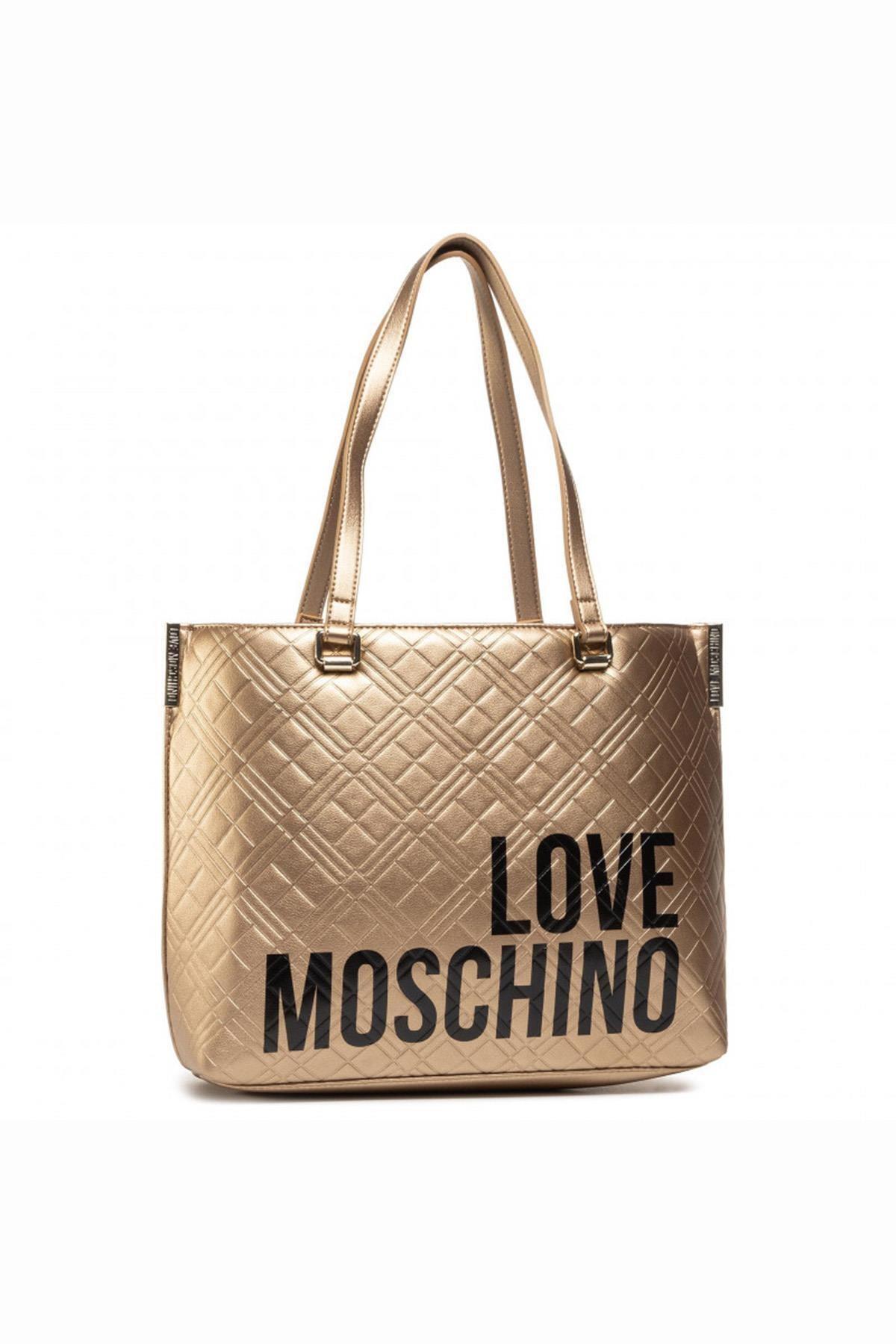 Love Moschino Love Moschıno Jc4229pp0bke0 Altın Kadın Omuz Çantası 1