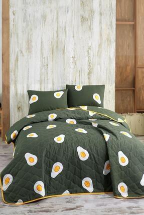 Zeynep Tekstil Avocado Çift Kişilik Yatak Örtüsü Seti Avakado 4 Mevsim Yatak Örtüsü