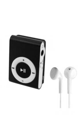Kensa Mini Mp3 Çalar Micro Sd Kart Girişli Müzik Çalar + Kulaklık Mp3 Siyah