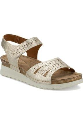 Polaris 161167.z Bayan Altın Günlük Sandalet