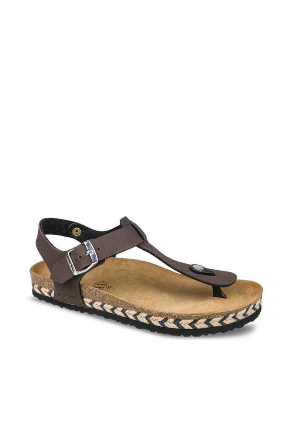 Ceyo Kahve Kadın Sandalet 01931 1