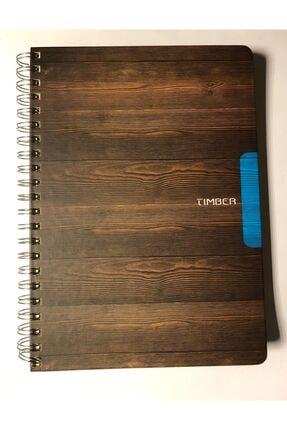 KESKİN COLOR Timber 20x28 120 Yaprak Mavi Detaylı Kareli Defter