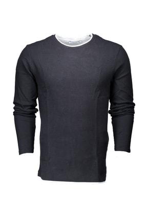 Collezione Siyah Erkek Bej Spor Regular T-shirt Uzun Kol