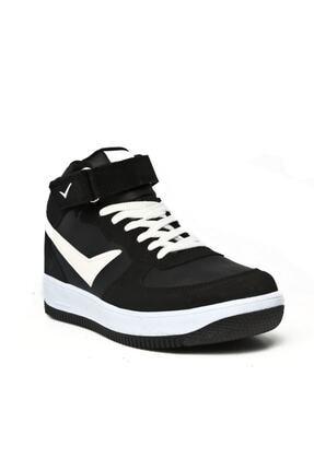 Lambırlent Unisex Siyah Boğazlı Cırtlı Kaymaz Taban Ayakkabı