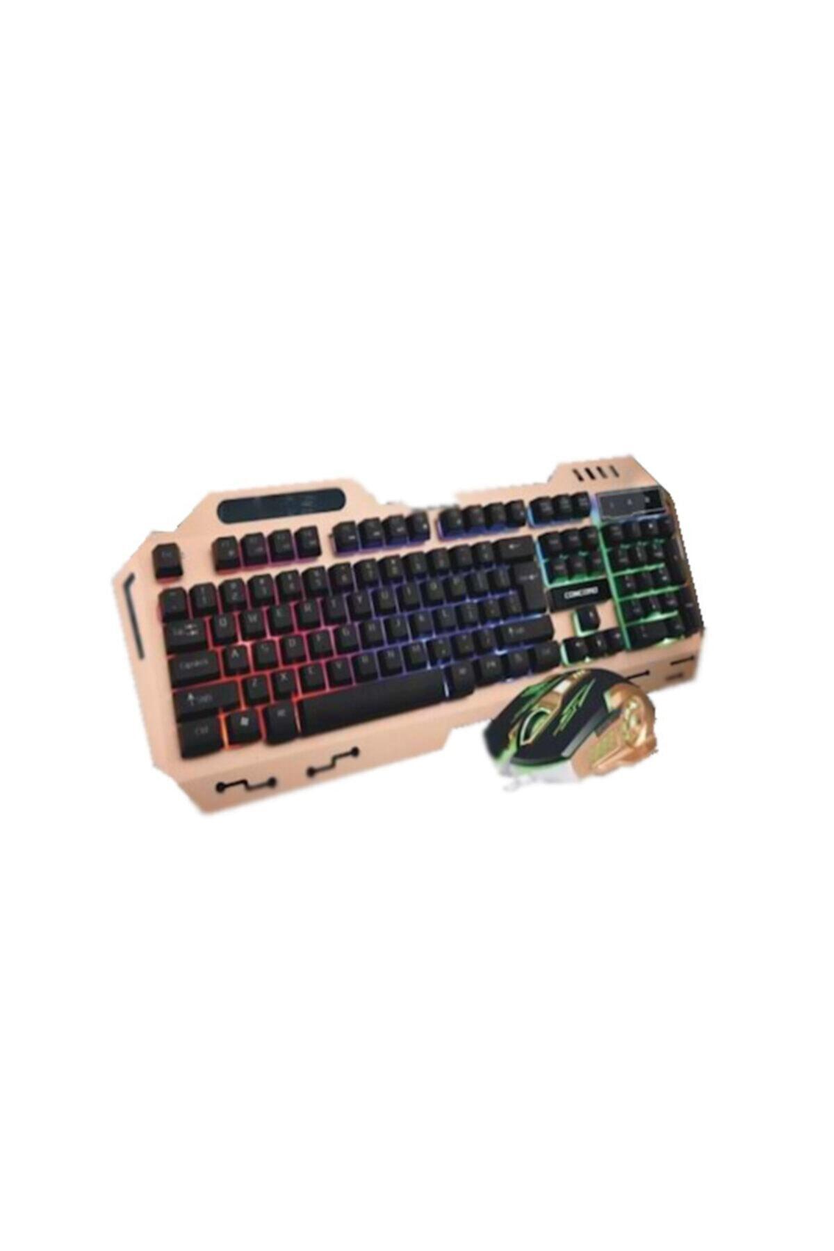Concord C-58 Usb Aydınlatmalı Metal Kasa Q Gaming Mouse Klavye Set 1