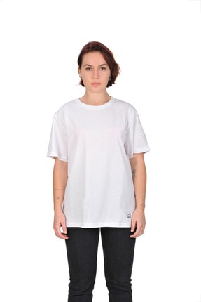 WAB Beyaz Bisiklet Yaka T-shirt
