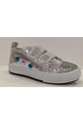 MP M.p 201-3045pt Cırtlı Simli Kız Çocuk Spor Ayakkabı