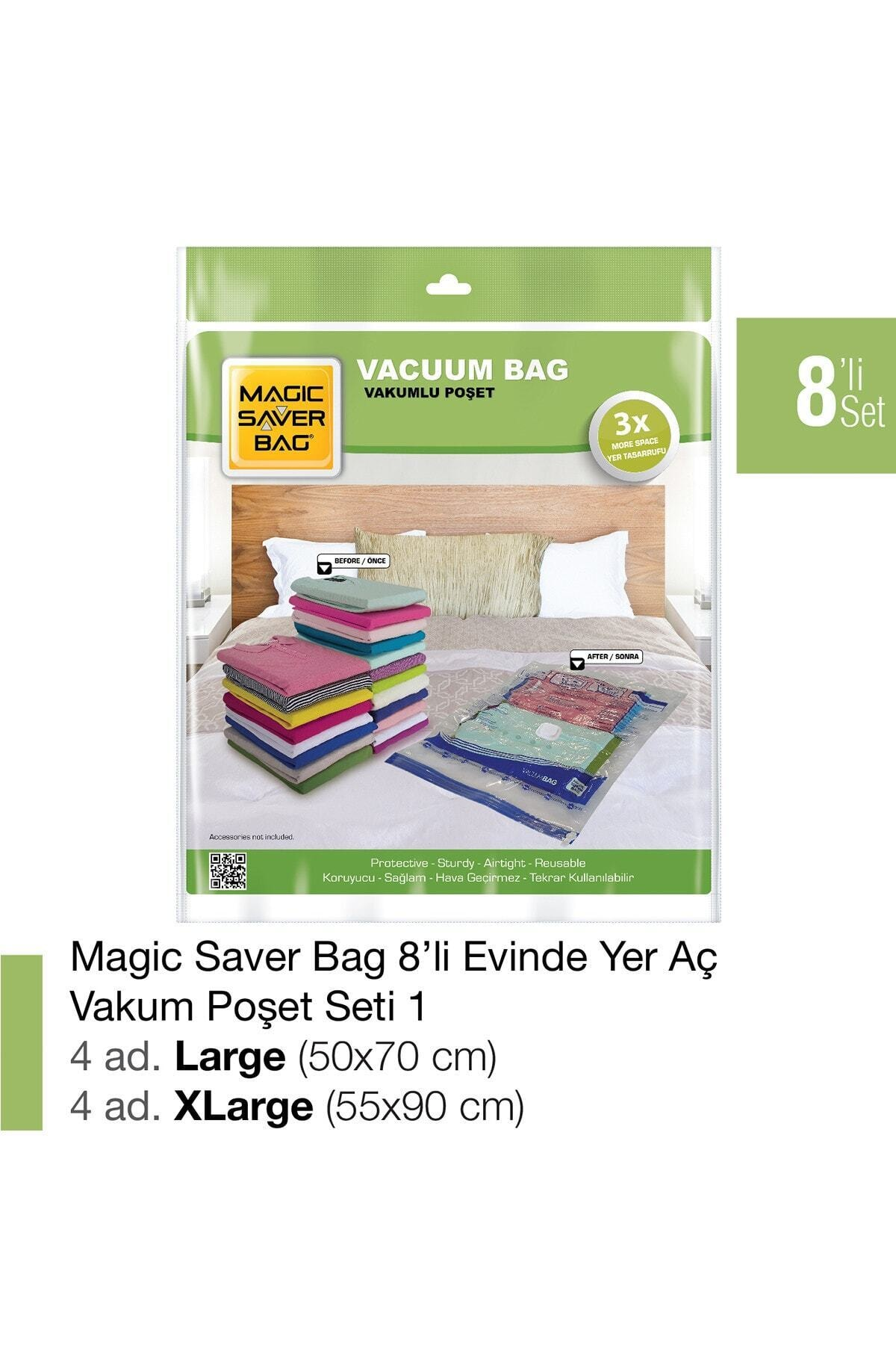 Magic Saver Bag 8'li Vakumlu Poşet Set-1 1