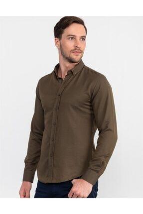 Tudors Slim Fit Düz Erkek Gömlek