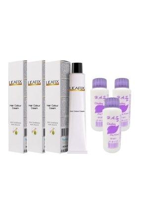 Lilafix Saç Boyası Küllü Kumral-7/1+oksidan (3 Adet)