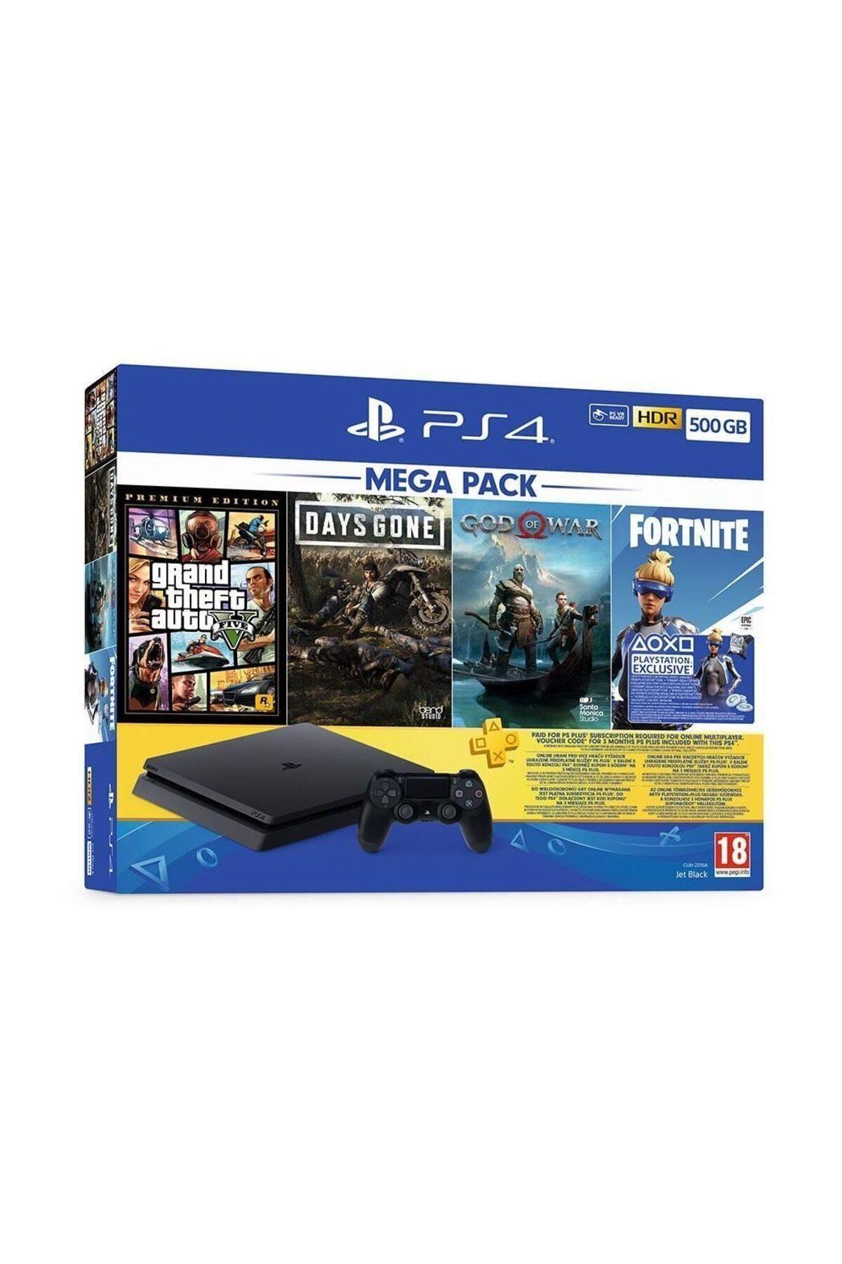 Sony Playstation 4 Slim 500 Gb + Gta V + Days Gone + God Of War + Fortnite + Psn (Eurasia Garantili) 1