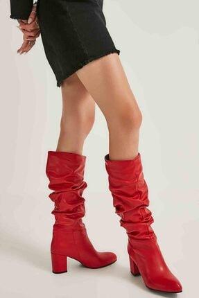 Bambi Kırmızı Kadın Çizme M0503715009