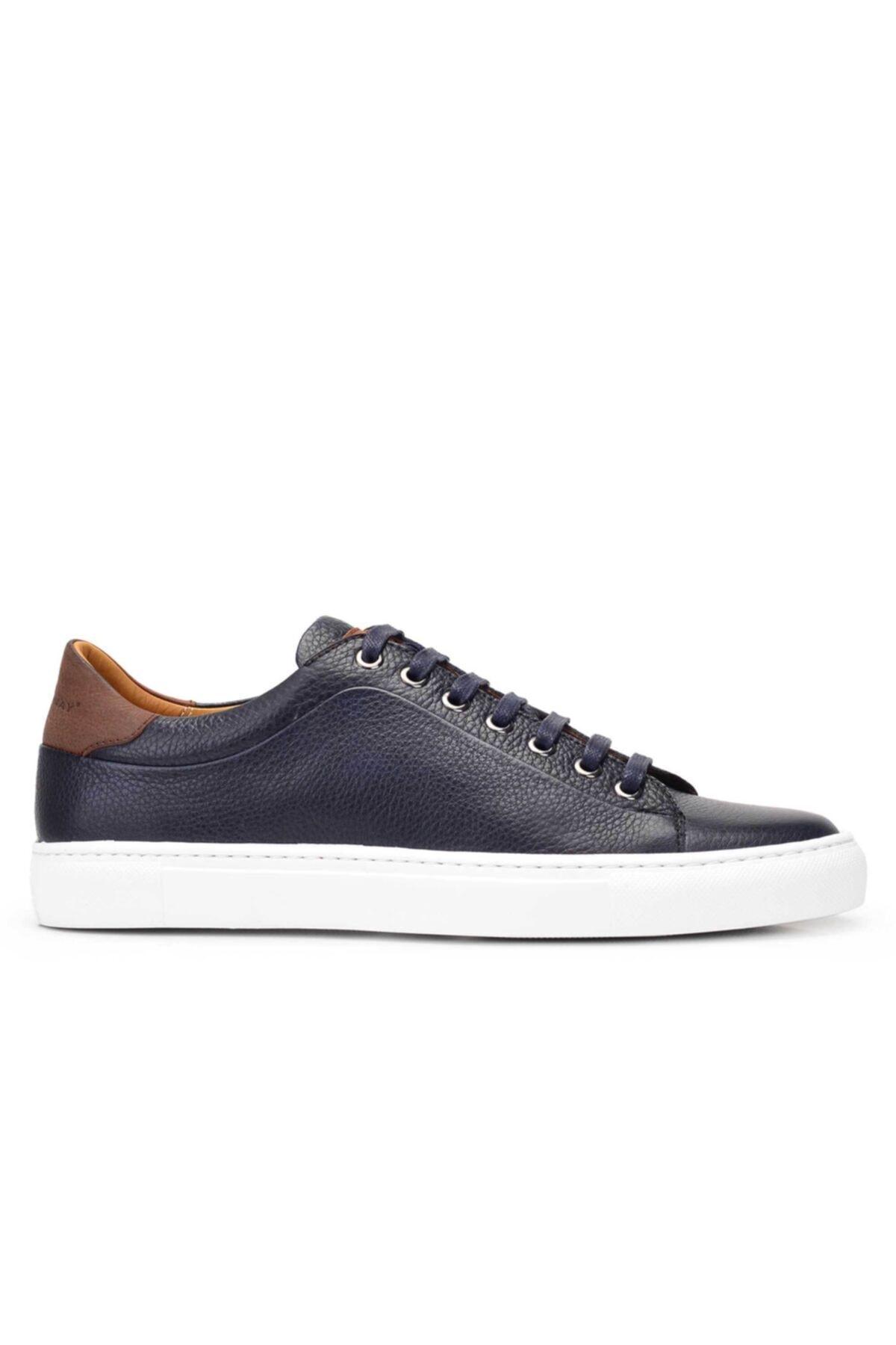 Nevzat Onay Hakiki Deri Lacivert Sneaker Erkek Ayakkabı -11741- 1