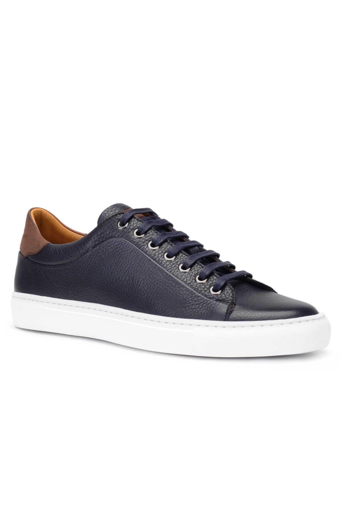 Nevzat Onay Hakiki Deri Lacivert Sneaker Erkek Ayakkabı -11741- 2