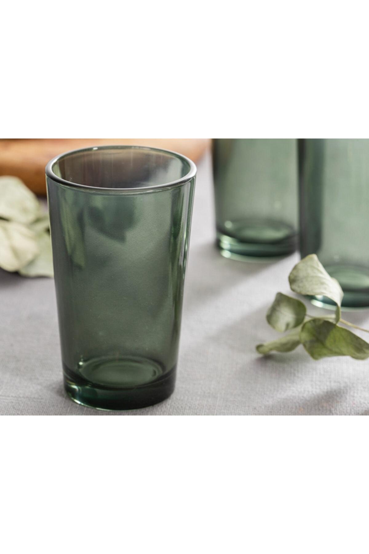 English Home Pia Cam 6'lı Kahve Yanı Su Bardağı 100 Ml Yeşil 1