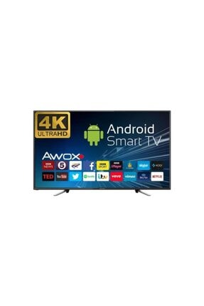 """AWOX K6500RST 65"""" 165 Ekran Uydu Alıcılı 4K Ultra HD Smart LED TV"""