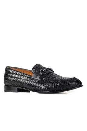 Cabani 14107 Kösele Enj. Meşin Astar Ayakkabı-siyah Antik